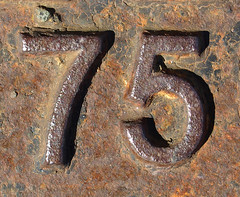 75 (chrisinplymouth) Tags: metal iron rusty number numbers oxidation rusting 75 numerals cw69x chrisinplymouth cw69n
