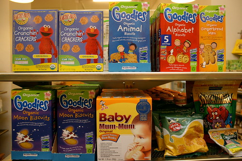 Lots of organic snacks for little ones