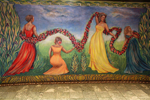 Carnival Spirit - Mural above Atrium Bar