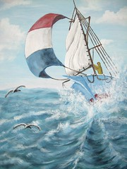 Rough Sailing (artbysmokey) Tags: sailboat roughocean