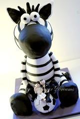 Zebra 3D (Bettys Sugar Dreams) Tags: germany 3d hamburg betty zebra handball hochzeitstorte torte fondant torten maskottchen hochzeitstorten sugarpaste motivtorten bettyssugardreams bettinaschliephakeburchardt