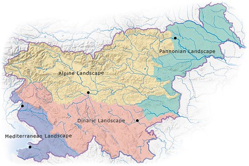 Tipos de paisajes en Eslovenia