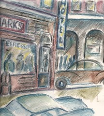 WATERCOLOR DETAIL: WATERCOLOR: RETRO VENICE BEACH, CALIFORNIA By R.L. Huffstutter (roberthuffstutter) Tags: new art beach japan midwest bbq artists simplicity expressionism impressionism americana venicebeach beatniks watercolors decks sketches today beatnik youngman picnik penandink speedway lifestyles simplelife photogallery mindsets hotoffthepress galleryphotos stmarkshotel photogalleries galleryphoto roberthuffstutter huffstuttersart robertlhuffstutter watercolorsbyhuffstutter contemporaryimpressionism impressionismart detailofwatercolor westcoastbound robertsgallery originalsavailable huffstutterspaintings retrovenicebeach impressionismwatercolors westcoastbeachtown impressionismgenre assortedmixedmedium huffstuttersimpressionistgallery galleryofimpressionistart expressionismandimpressionism impressionistportfolio studyingimpressionism bobhuffstutter artandorphotosbyhuffstutter