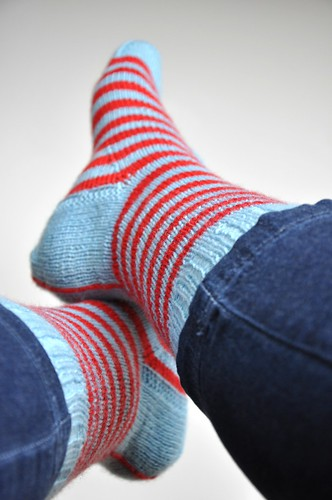 Finished 2. pair of Burning stripes socks-5