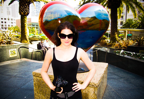 Lisa with SF Heart in Union Square