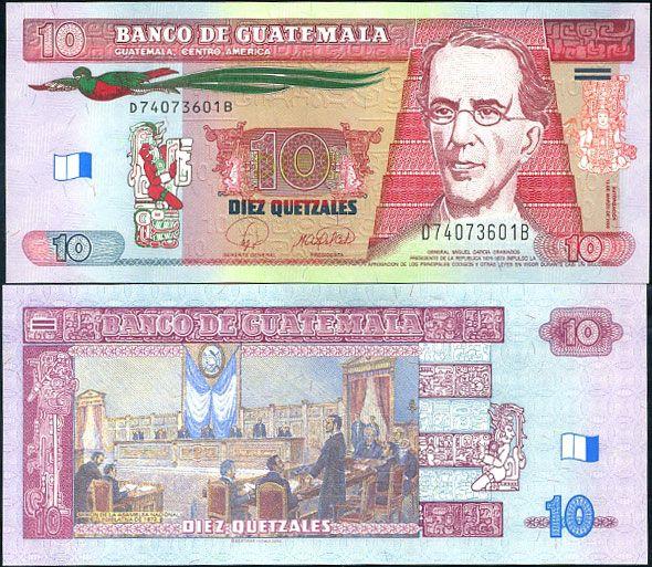 10 Quetzales Guatemala 2008