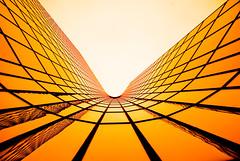 Solar Wave (tristanlb) Tags: light sky orange sun black paris reflection lines yellow architecture landscape solitude pentax geometry miracle infinity perspective round rails curve infinite ladfense greatphotographers superstarthebest tristanlb sailsevenseas