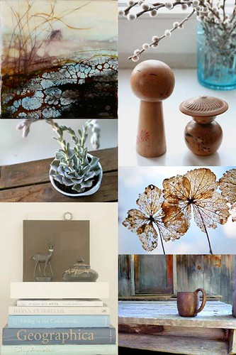 Pale Blue & Brown [Friday Flickr Photo Collage]