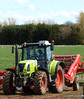 Lunch Break (B4bees) Tags: tractor scotland newspaper farming cygnet driver rest agriculture potatos