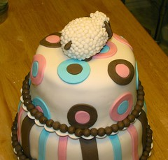 Baby Shower Sheep Cake - tail