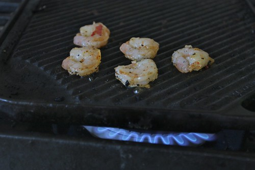grilling shrimps inside