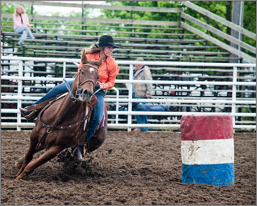 Barrel racing    ____4358 (by Silver Image)