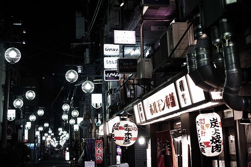 街灯が並ぶ