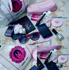 what's in my bag (katyou) Tags: hello anna hk bag hellokitty makeup kitty sui whatsinmybag tote dior christiandior etude annasuibag annasuitotebag