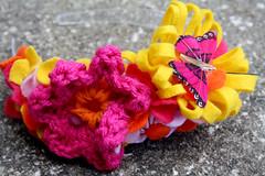 (ohsohappytogether) Tags: flowers girl toddler handmade felt headband hairaccessory handsewing