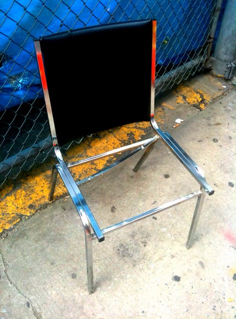 street furniture chair I doubt will be highlighted during ICFF #walkingtoworktoday