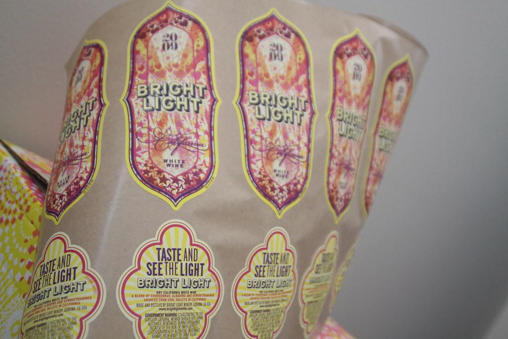 Bright Light Dry California White Wine (designed Andrea von Bujdoss)