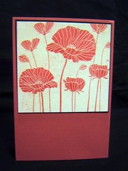 Red Poppies (turleyfamily(Dawn)) Tags: heroarts picnik resist embossing handmadecard thinkinginking cg140 winaday2010