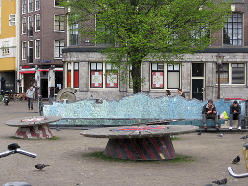 "Neat street ""art"" - tables and benches"
