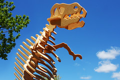 TYRANNOSAURUS REX (thisisbrianfisher) Tags: wood sky giant fun toy outside outdoors wooden big dino dinosaur outdoor brian attack perspective homemade fisher kit build rex trex tyrannosaurus brianfisher thisisbrianfisher