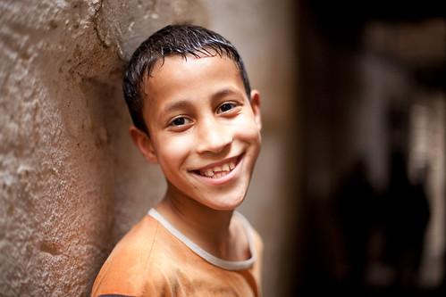 フリー写真素材, 人物, 子供, 少年・男の子, 笑顔・スマイル, モロッコ人,