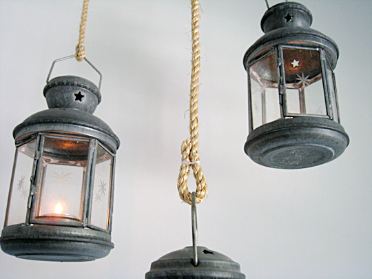 old silver ikea star lanterns