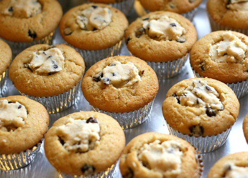 cookie dough cupcakes with cookie dough chocolate chip cookie dough ...