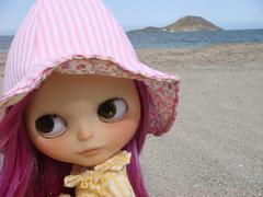 Mía en la playa