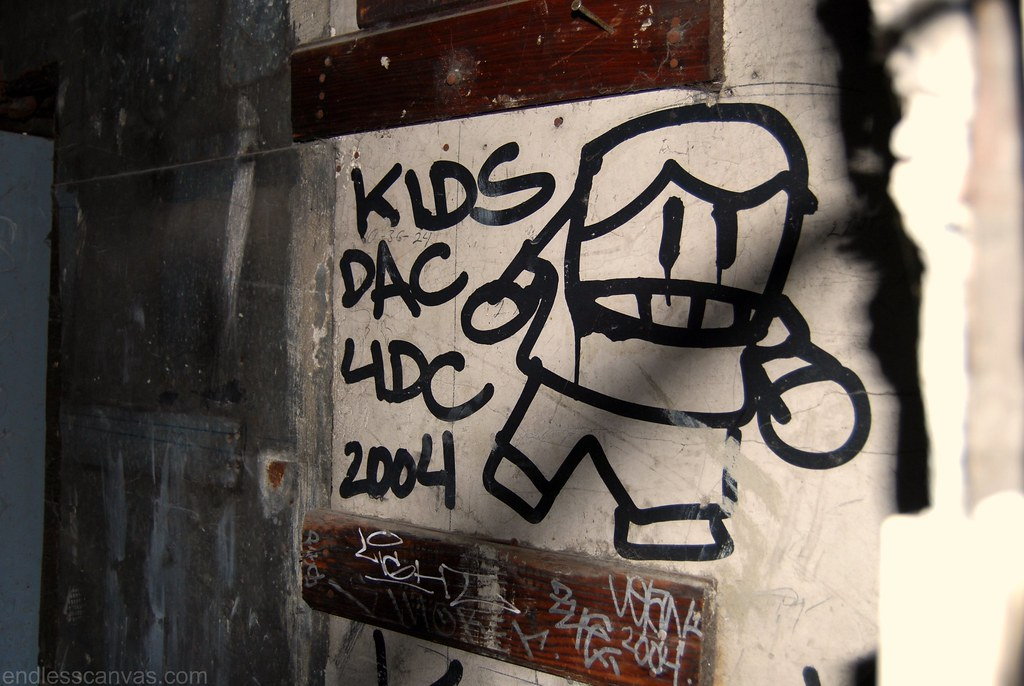 RIP KIDS DAC 4DC Graffiti San Francisco, CA.