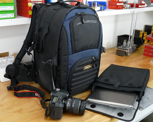 "The mamoth backpack with my Canon EOS 7D and 17"" laptop in sleve (fits inside backpack)"