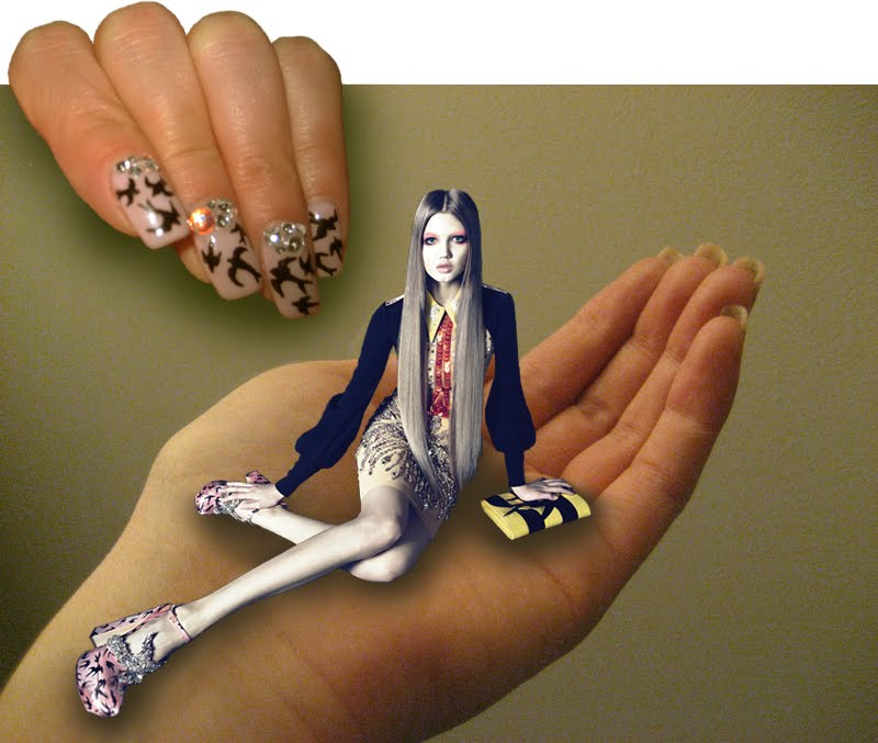 stop it right now Miu Miu DIY manicure 1