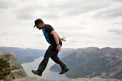 Walking on air (pasto) Tags: norway norge cs preikestolen lysefjord pulpitrock couchsurfing rogland hikemountain