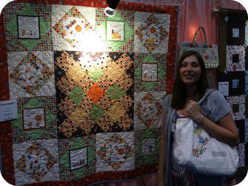 Jennifer & her Caramel Town quilt