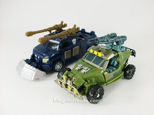 Transformers Dune Runner + Scattorshot RotF Scout - modo alterno