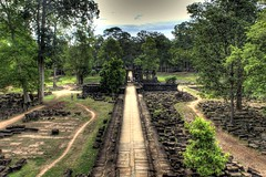 angkor temples (Dave_B_) Tags: trees light people sun history colors person ancient nikon asia cambodia seasia king south statues tourists east backpacking temples siem reap thom civilization projects orient siemreap angkor thebayon reflexion hdr vii bayon angkorthom d90 jayavarman khemer worldtour2010 inspiringangkor