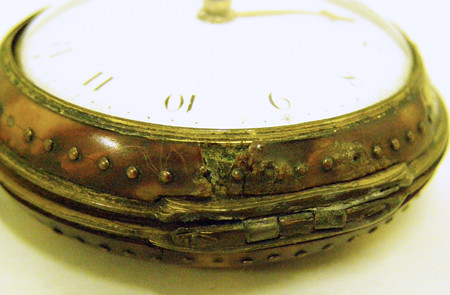 Pocket watch with tortoise shell case, c1790