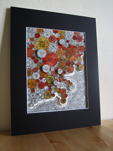Bubbles Mixed Media Art