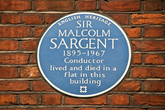 Photo of Malcolm Sargent blue plaque