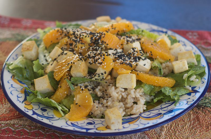 orange sesame salad