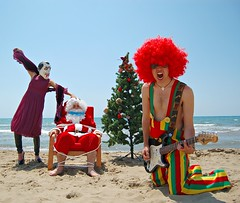The contemporary world has killed the fairy tales (Angelo Nairod) Tags: world christmas sea beach flickr tales contemporary fairy santaclaus killed has the angelonairod contemporaryworld flickrangelonairod