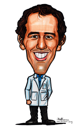 Caricatures for NUS -in lab coat