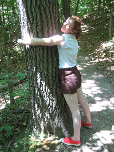 we took silly tree-hugging pictures