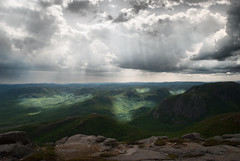 (Karhajee) Tags: sky cloud mountain canada nature beautiful landscape view quebec outdoor scenic mount qubec sunbeam charlevoix scenicview montdulacdescygnes grandsjardins parcnationaldesgrandsjardins parcsqubec