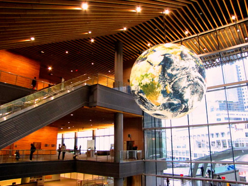 Vancouver Convention Centre EPIC Expo, The Globe hangs high at the entrance