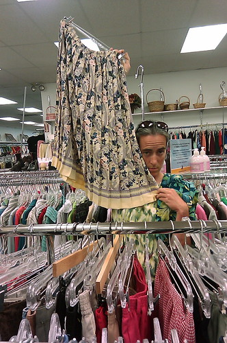 Skirt Shopping at Goodwill