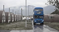 Incongruous... (Truecraft Images) Tags: old camp bus perthshire quake pow incongruous comrie cultybraggan