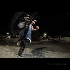 Day Hundred Thirty Six (Seb Huruguen) Tags: portrait fish eye bike self canon eos bmx action bordeaux fisheye tokina riding 7d ez wireless remote seb timer rider velo 540 sebastien stunts cto speedlite 1017mm etpa 540ez huruguen