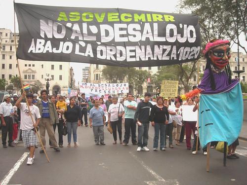 LLegando a la Plaza San Martín
