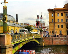 St. Petersburg, Russia - Bridge over the Fontanka river (jackfre2) Tags: bridge cars buses river stpetersburg boat canal colours russia churches embankment palaces fontanka moika appartments aristocracy nobility thegalaxy fontanki mygearandmepremium mygearandmebronze mygearandmesilver