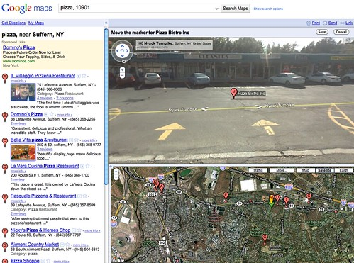 Google Maps Street View Positioning